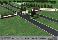 Entrance to Central Texas State Veterans Cemetery
