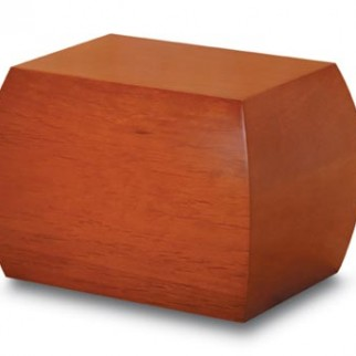 Honey Brown Wood Cremation Urn