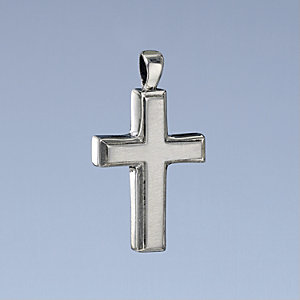Sterling Silver Large Cross Pendant