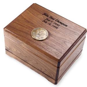 Walnut Memento Chest Urn