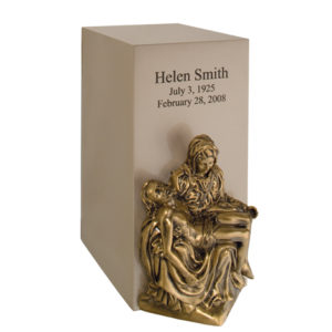 Sand Sheet Bronze Vertical Urn