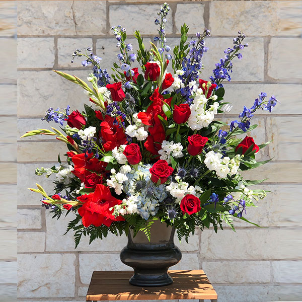 Red White Blue Lake Shore Funeral Home Cremation Services Waco Texas